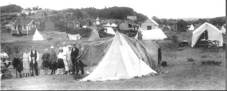 LANDLIGGERNE: Bildet fra Teltodden 1920